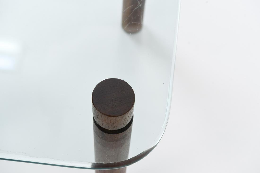 ATTR. JENS QUISTGAARD GLASS TOP SIDE TABLE - 3