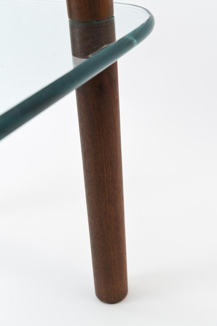 ATTR. JENS QUISTGAARD GLASS TOP SIDE TABLE - 5