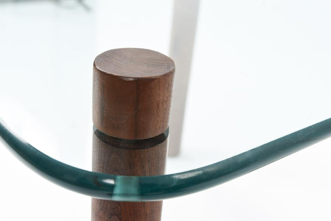ATTR. JENS QUISTGAARD GLASS TOP SIDE TABLE - 6