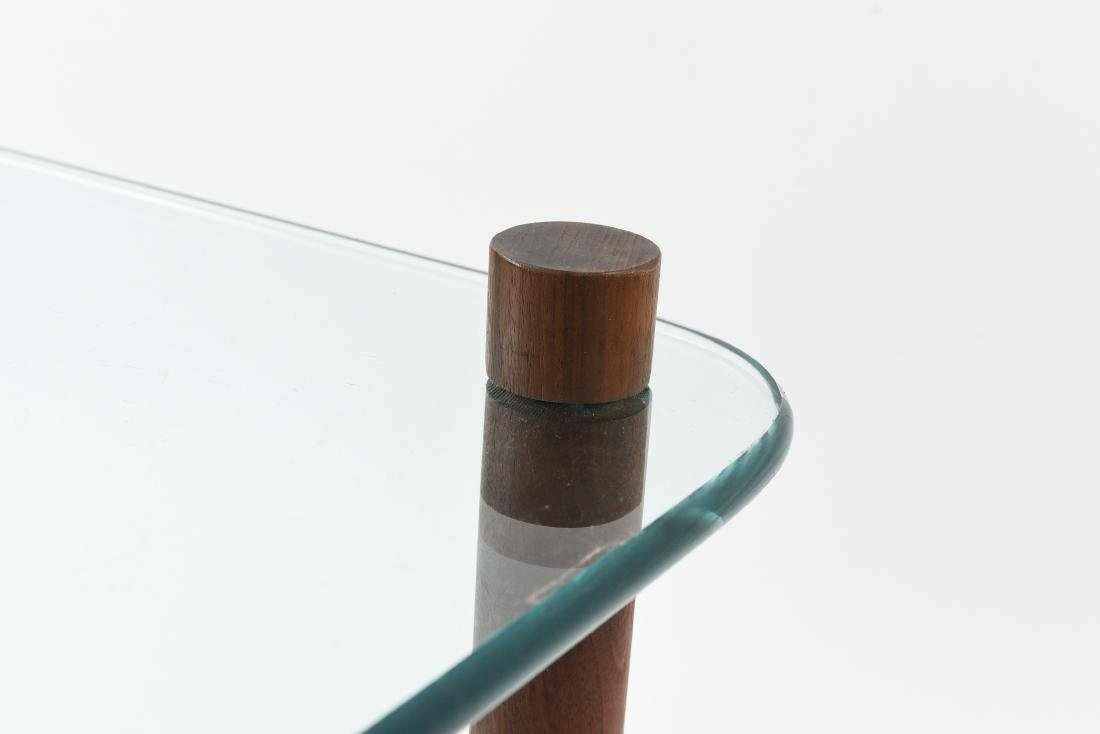 ATTR. JENS QUISTGAARD GLASS TOP SIDE TABLE - 7