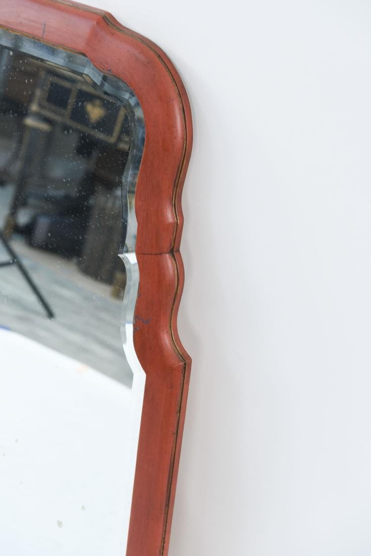 PAIR OF SHAPED AND BEVELED MID-CENTURY MIRRORS - 6