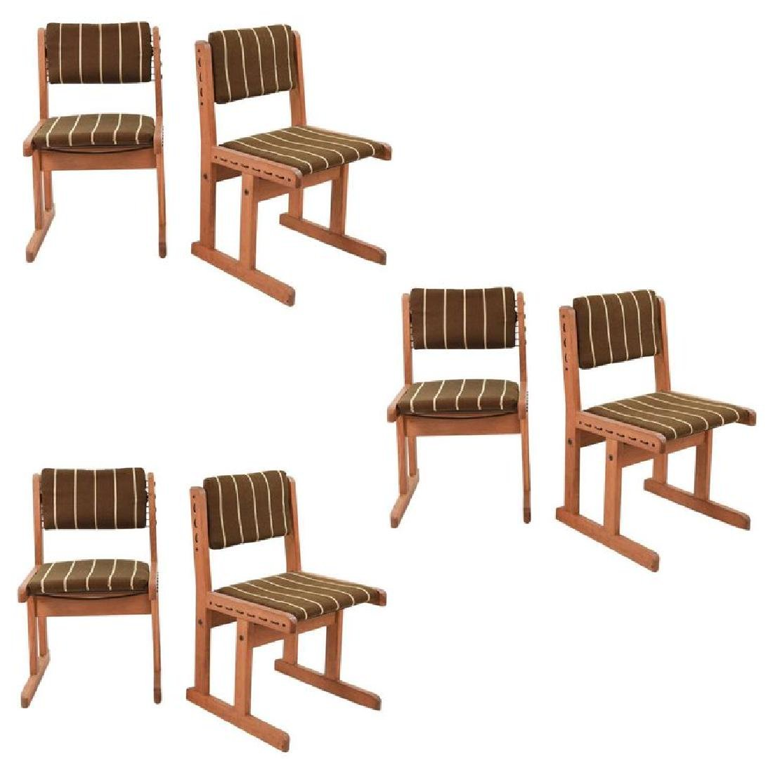 (6) MID-CENTURY DANISH OAK SIDE CHAIRS