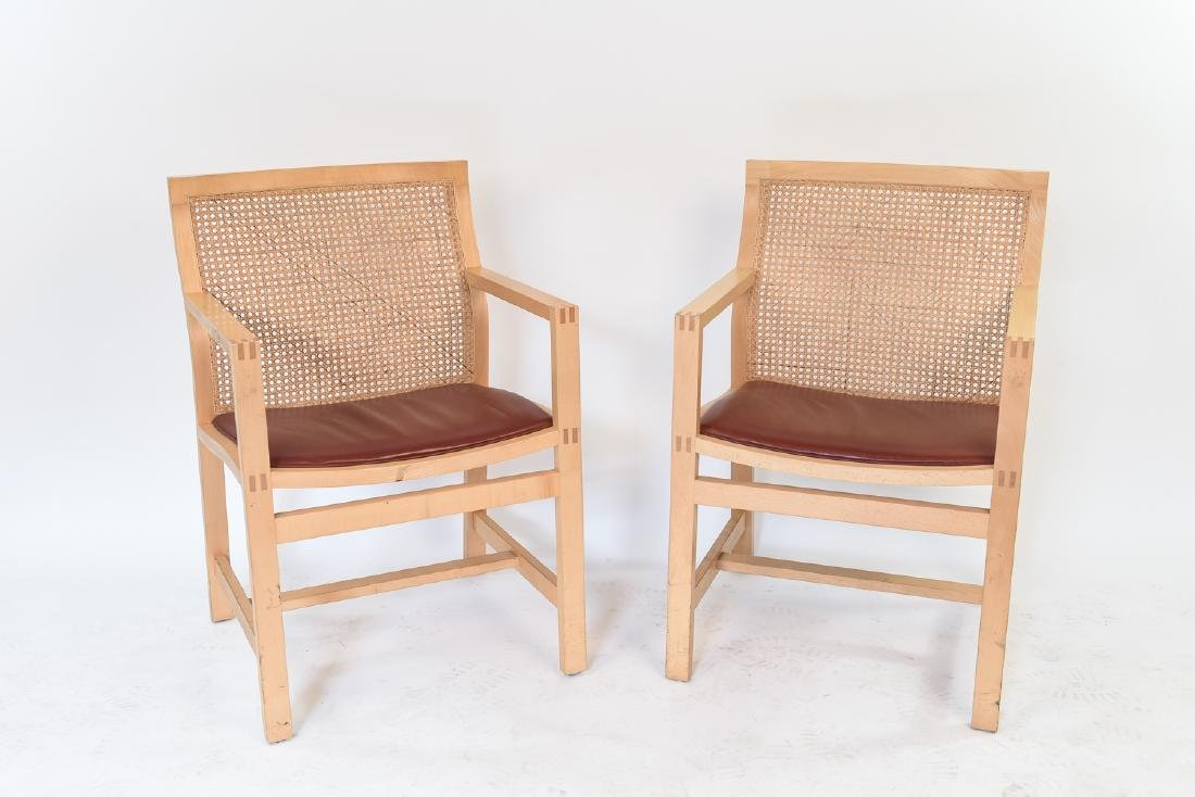 PAIR OF RUD THYGESEN & JOHNNY BOTIUM CHAIRS