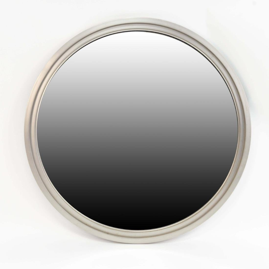 MINIMALIST STEEL FRAMED BEVELED ROUND WALL MIRROR