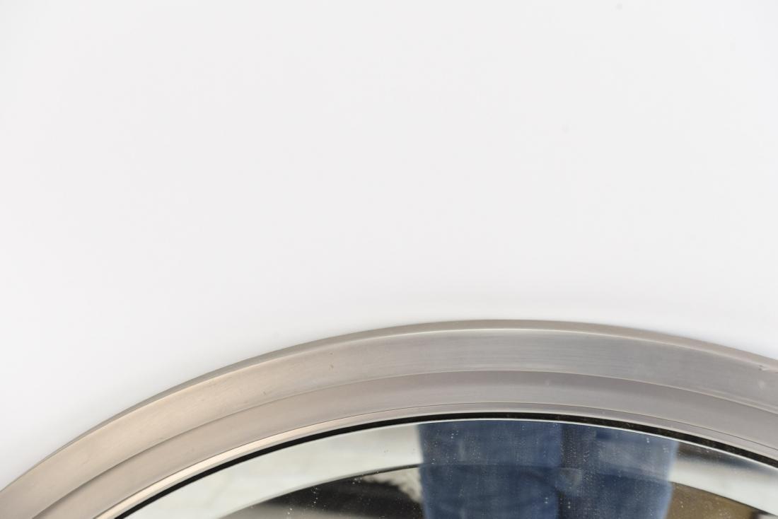 MINIMALIST STEEL FRAMED BEVELED ROUND WALL MIRROR - 2