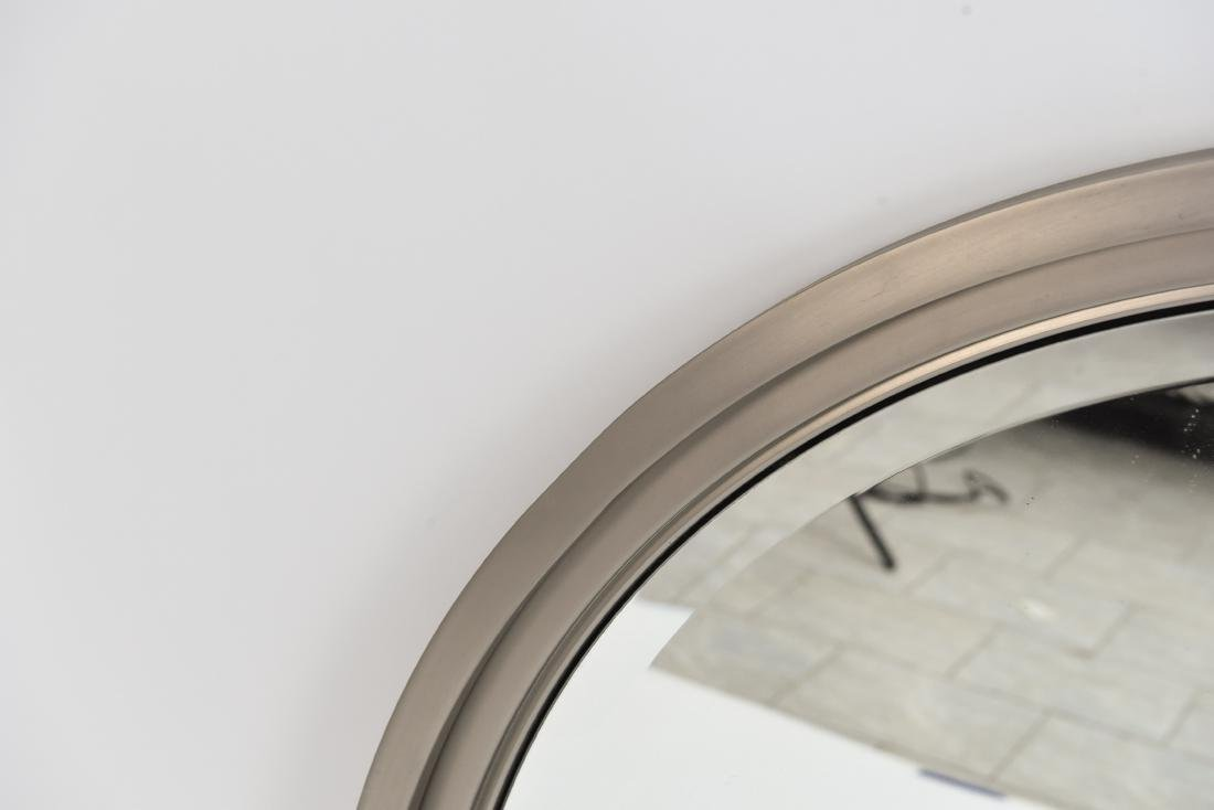 MINIMALIST STEEL FRAMED BEVELED ROUND WALL MIRROR - 3