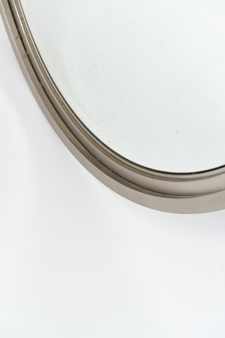MINIMALIST STEEL FRAMED BEVELED ROUND WALL MIRROR - 5