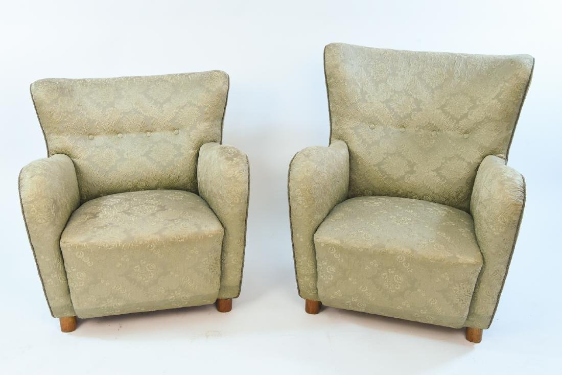 PAIR OF FRITZ HANSEN DANISH EASY CHAIRS