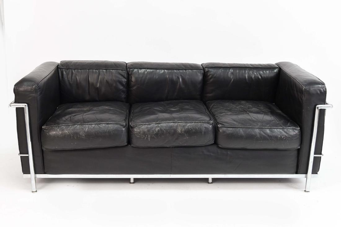 LE CORBUSIER LC2 3 SEAT STYLE SOFA