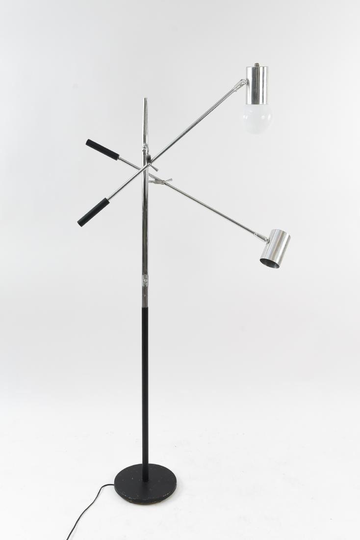 ARTICULATING CHROME ITALIAN STYLE FLOOR LAMP