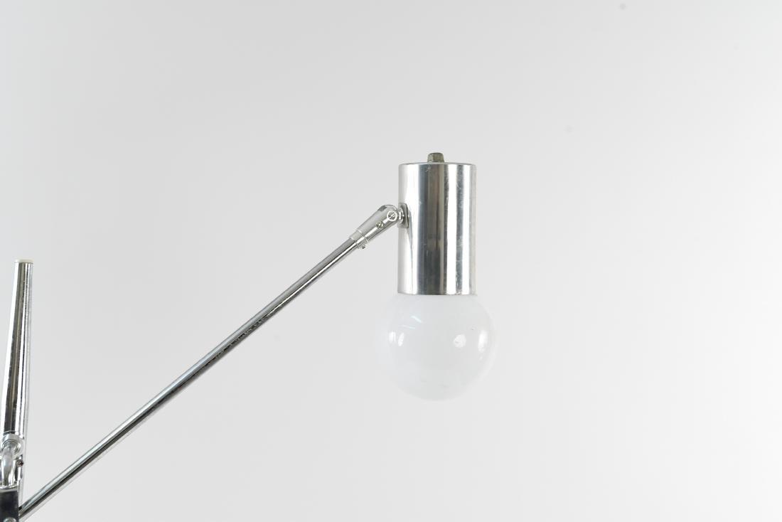 ARTICULATING CHROME ITALIAN STYLE FLOOR LAMP - 3
