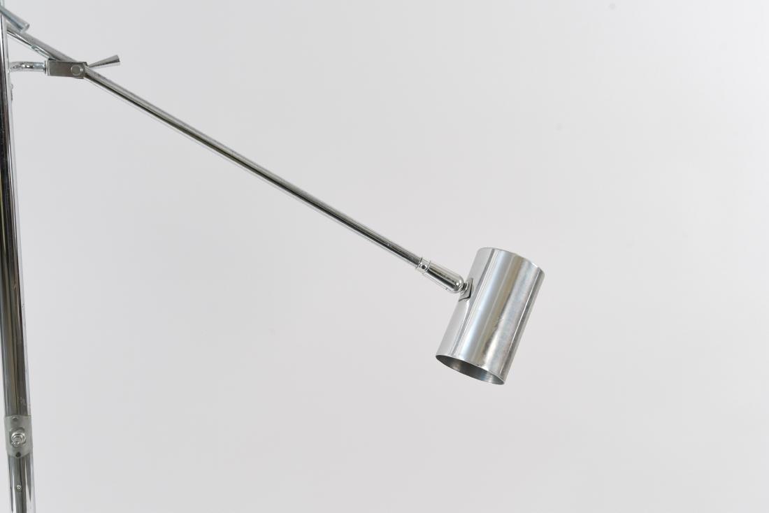 ARTICULATING CHROME ITALIAN STYLE FLOOR LAMP - 4