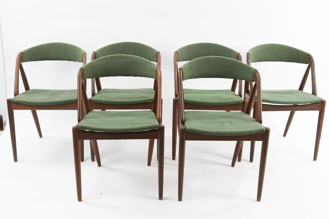 (6) KAI KRISTIANSEN MODEL 31 TEAK DINING CHAIRS
