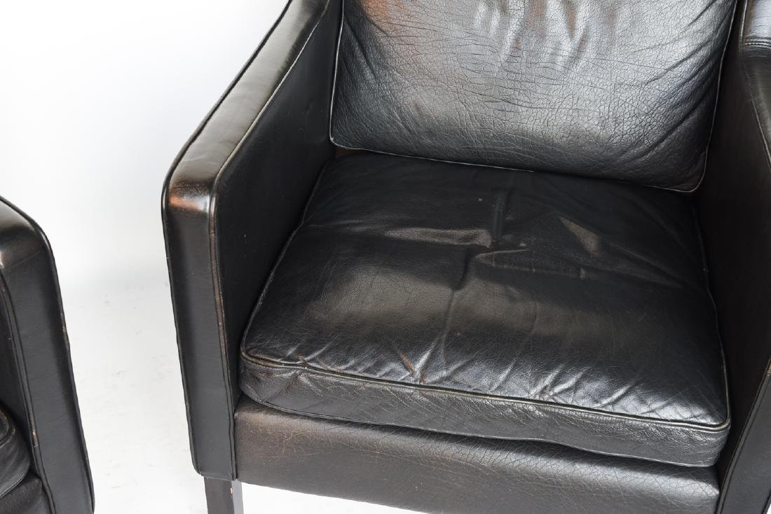 STOUBY BORGE MOGENSEN STYLE LEATHER CHAIRS - 2