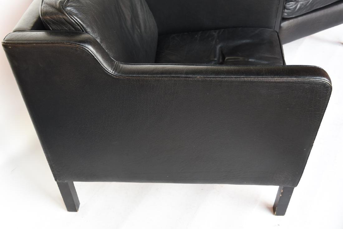 STOUBY BORGE MOGENSEN STYLE LEATHER CHAIRS - 4