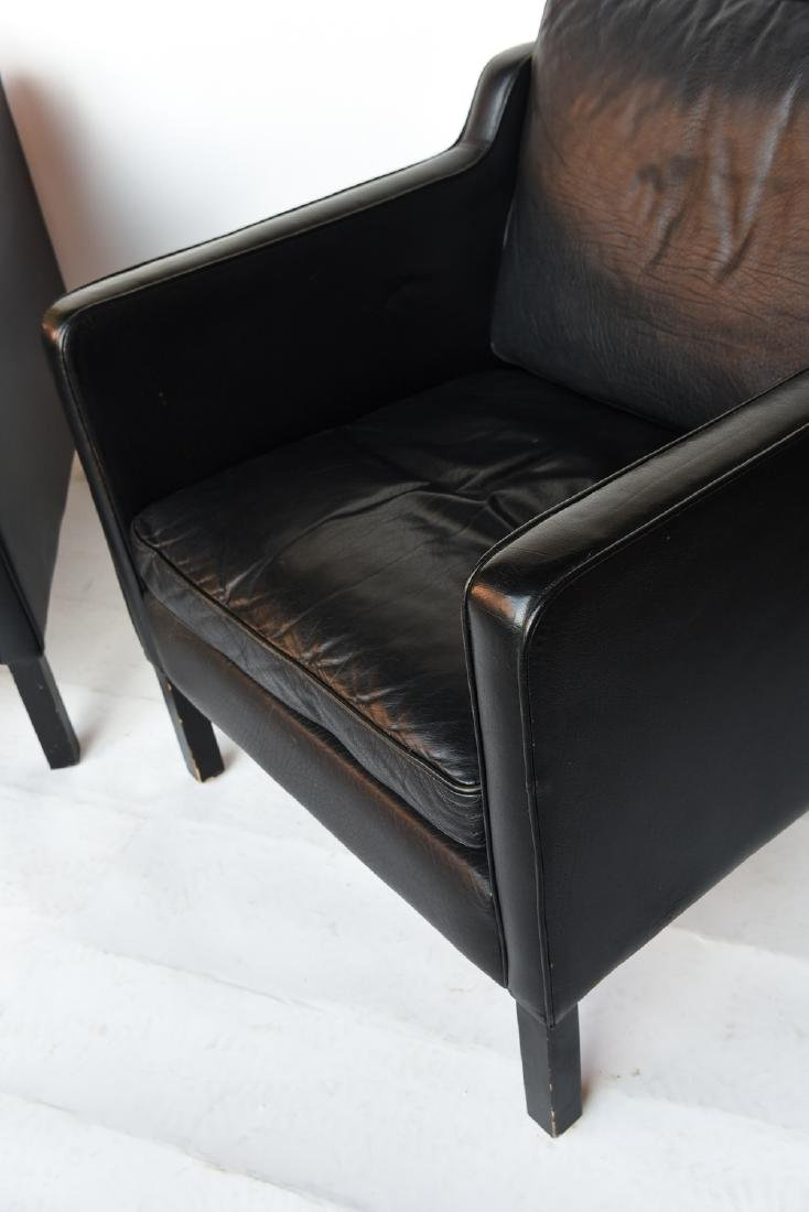 STOUBY BORGE MOGENSEN STYLE LEATHER CHAIRS - 9