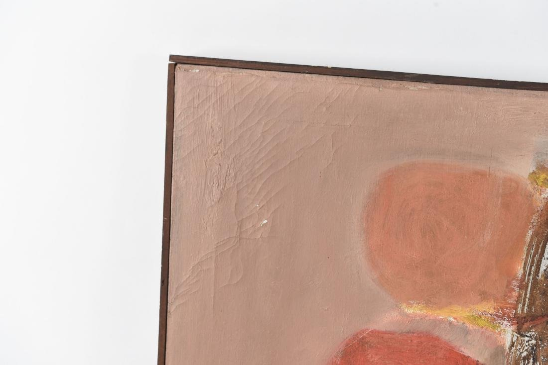 MID-CENTURY ABSTRACT OIL ON CANVAS PAINTING - 2