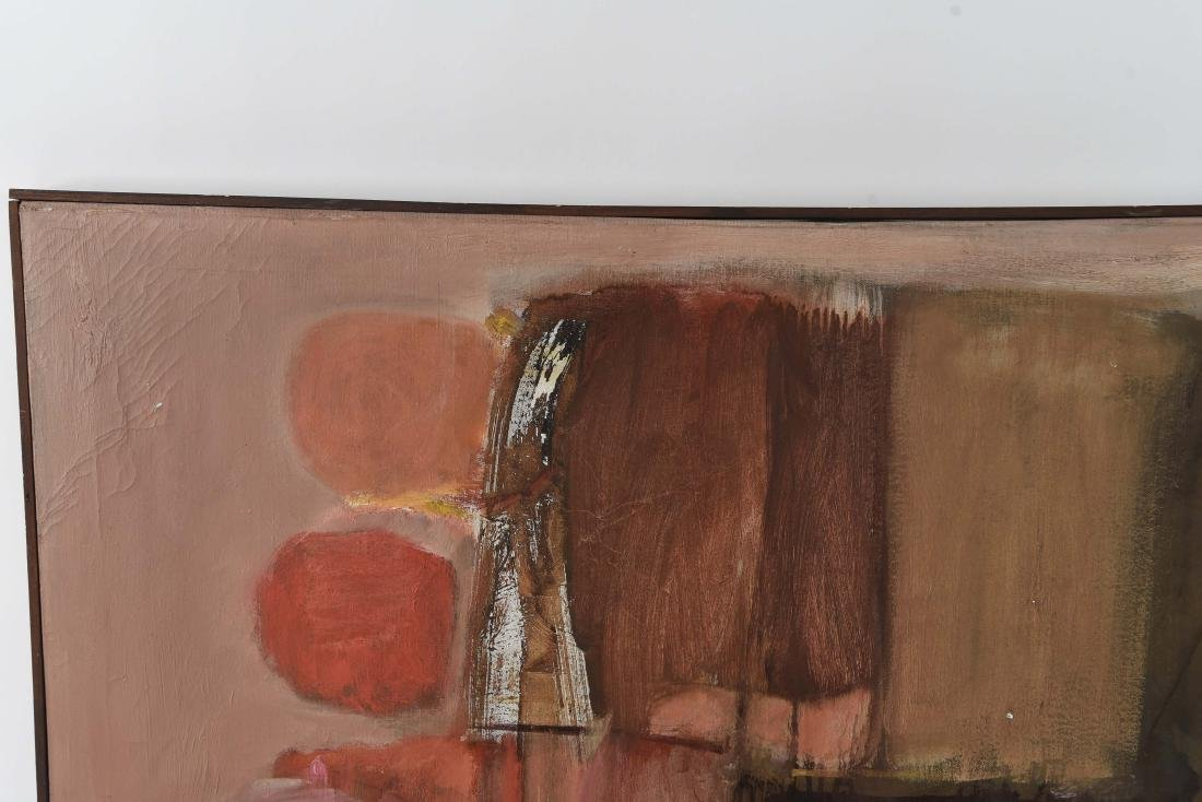 MID-CENTURY ABSTRACT OIL ON CANVAS PAINTING - 3