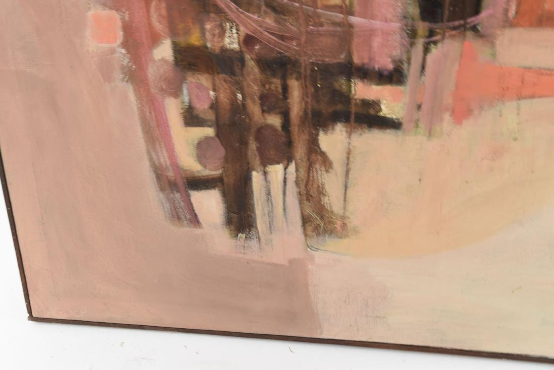 MID-CENTURY ABSTRACT OIL ON CANVAS PAINTING - 6