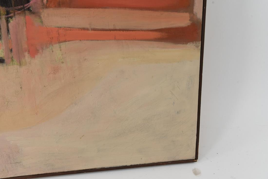 MID-CENTURY ABSTRACT OIL ON CANVAS PAINTING - 7