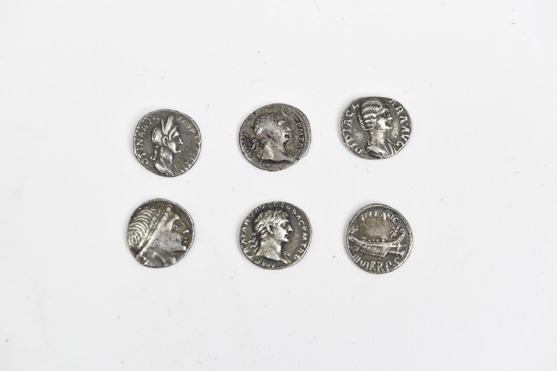 GROUPING OF SIX ROMAN SILVER COINS