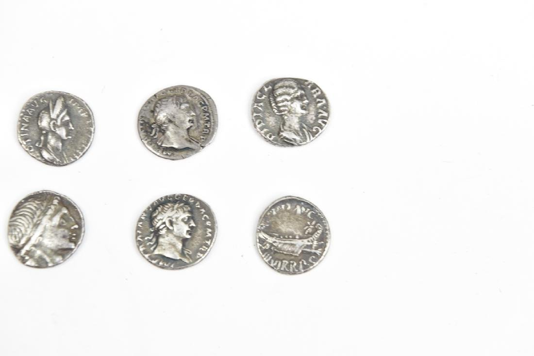 GROUPING OF SIX ROMAN SILVER COINS - 2