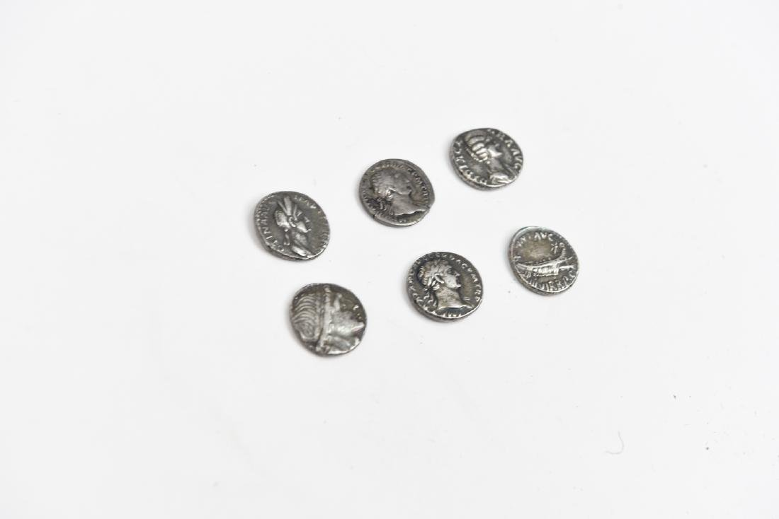 GROUPING OF SIX ROMAN SILVER COINS - 3