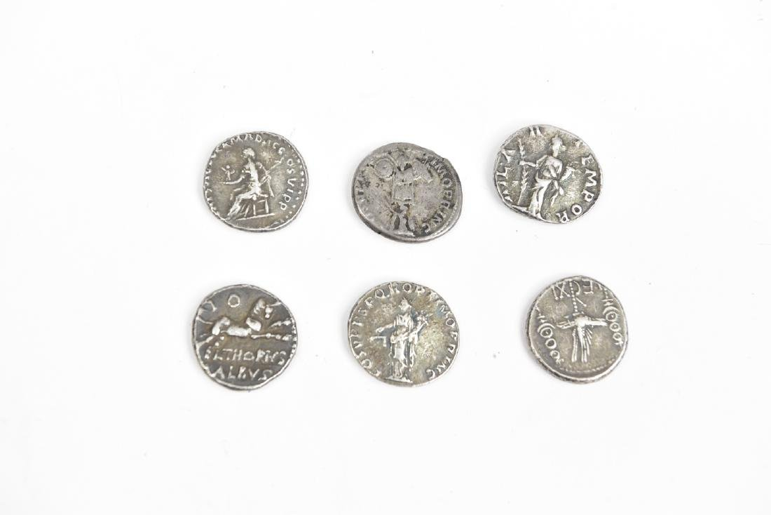 GROUPING OF SIX ROMAN SILVER COINS - 4