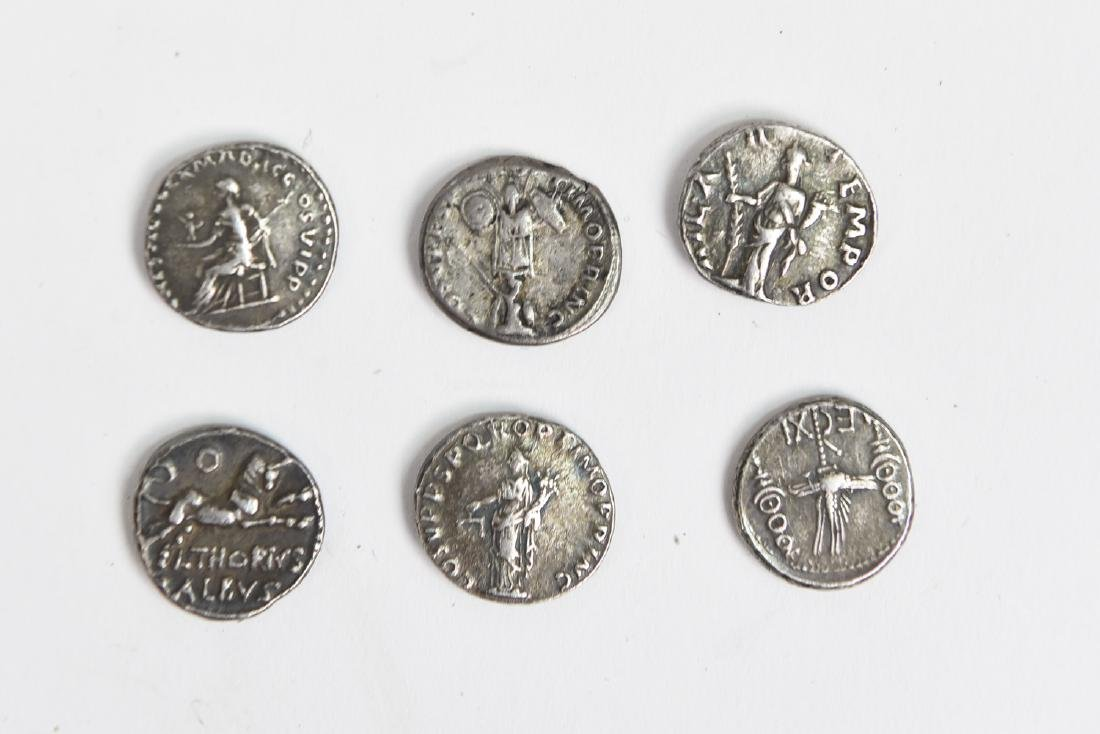 GROUPING OF SIX ROMAN SILVER COINS - 5