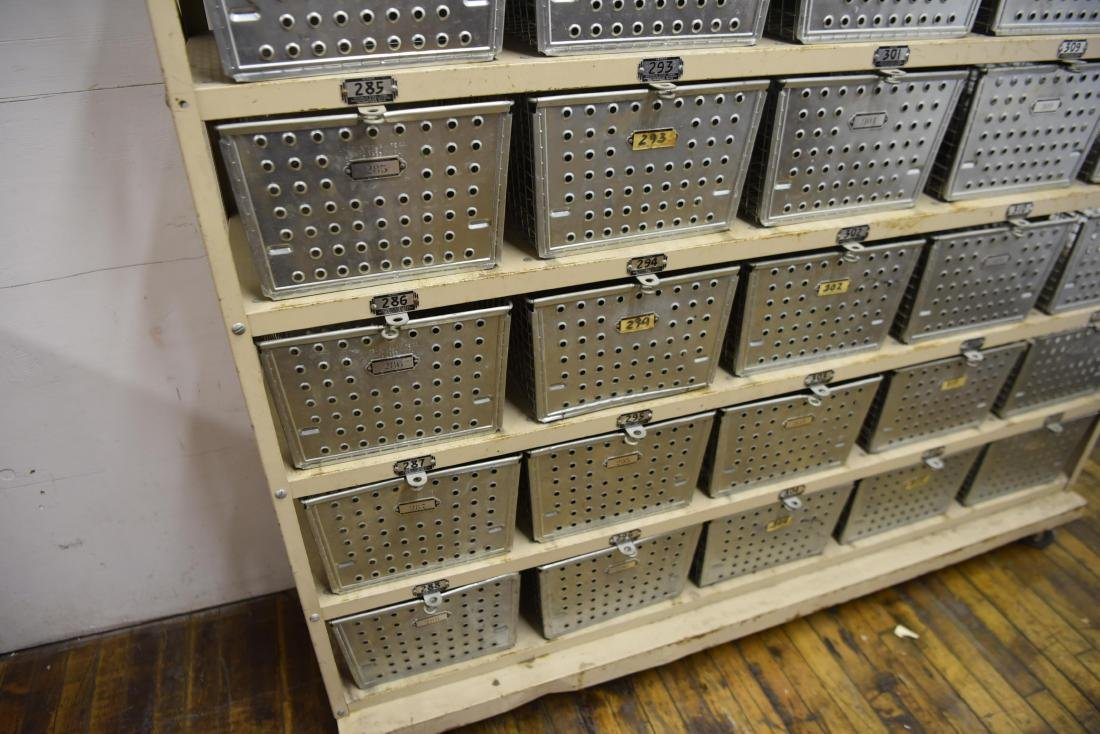 INDUSTRIAL SHELVING WITH WIRE BASKETS - 3