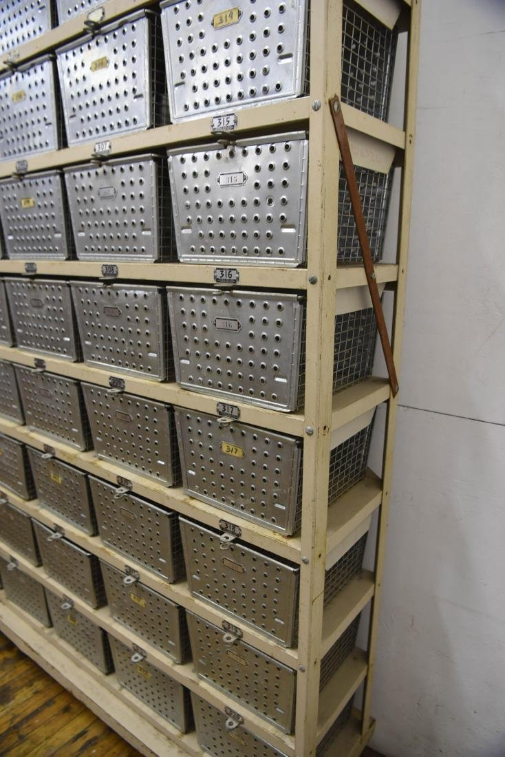 INDUSTRIAL SHELVING WITH WIRE BASKETS - 5
