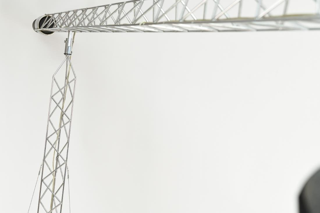 C. JERE CRANE TRUSS COUNTERBALANCE FLOOR LAMP - 10