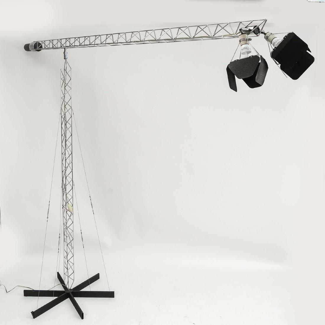 C. JERE CRANE TRUSS COUNTERBALANCE FLOOR LAMP