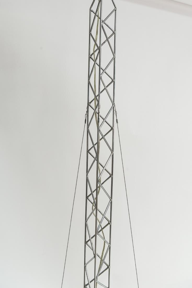 C. JERE CRANE TRUSS COUNTERBALANCE FLOOR LAMP - 4