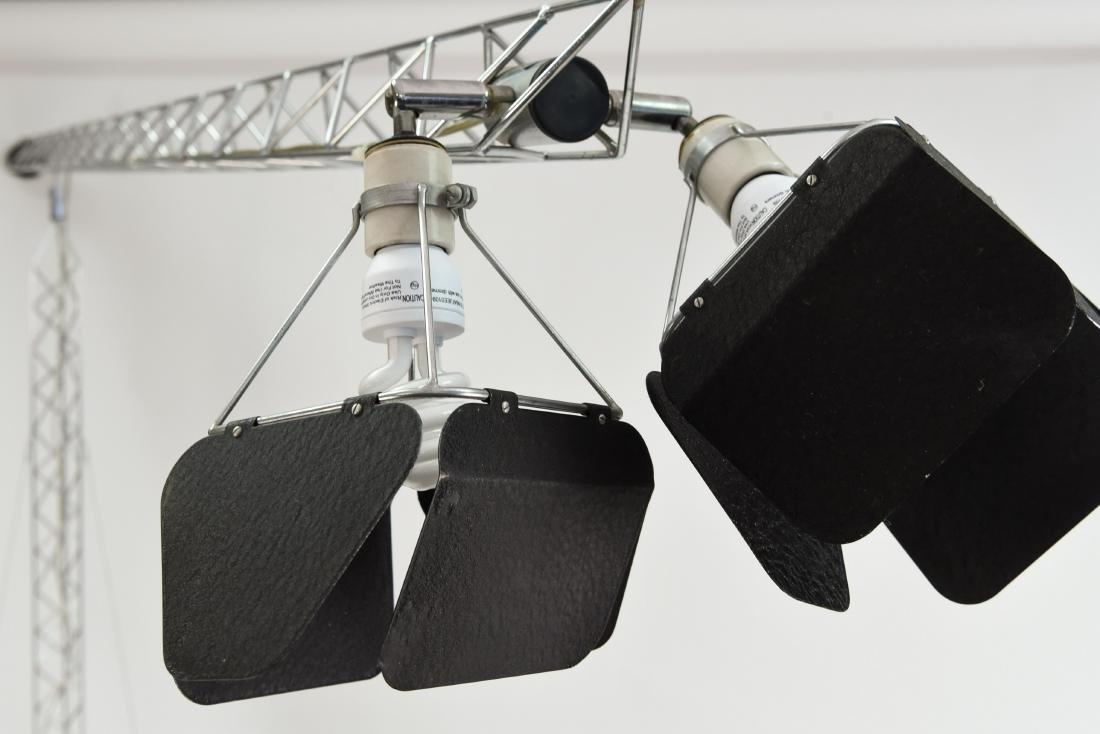 C. JERE CRANE TRUSS COUNTERBALANCE FLOOR LAMP - 8
