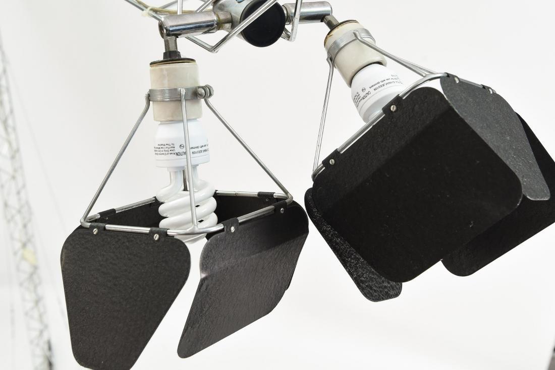 C. JERE CRANE TRUSS COUNTERBALANCE FLOOR LAMP - 9