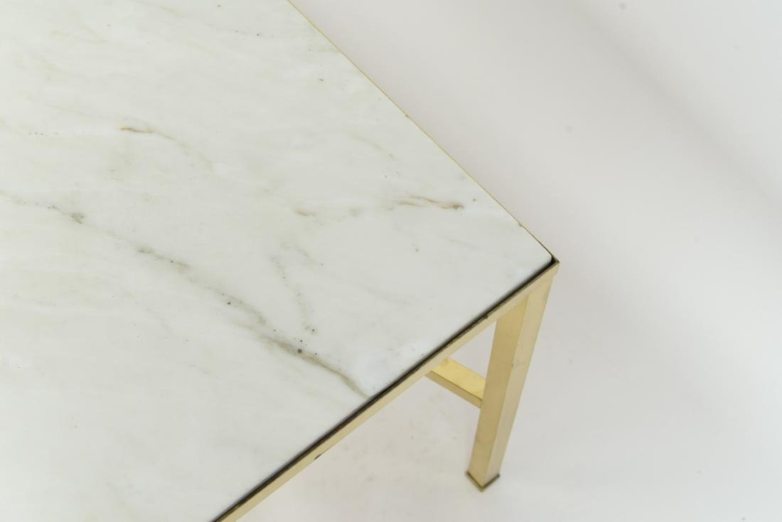 MANNER OF PAUL MCCOBB MARBLE AND BRASS TABLE - 10