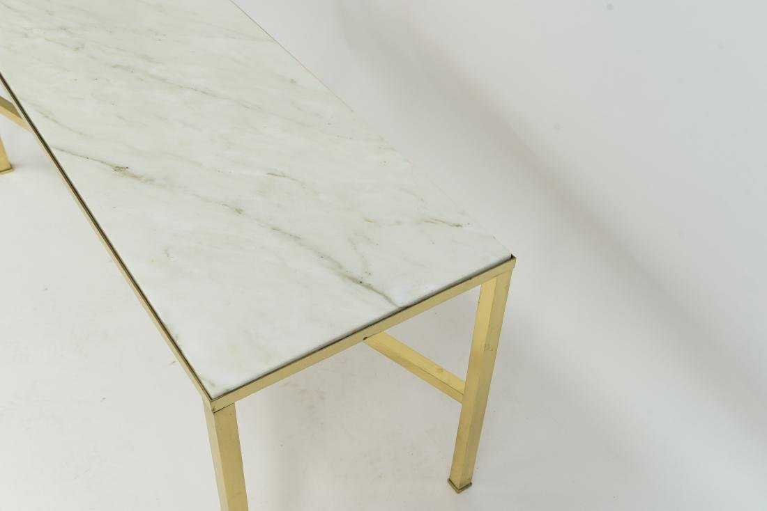 MANNER OF PAUL MCCOBB MARBLE AND BRASS TABLE - 4