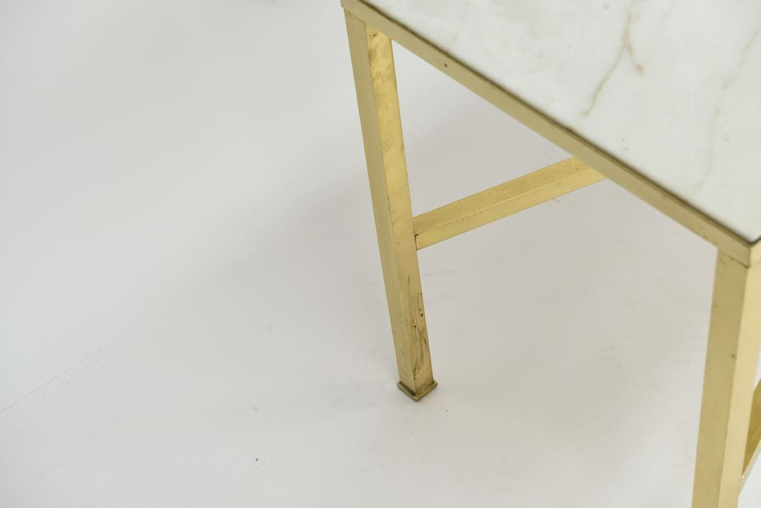 MANNER OF PAUL MCCOBB MARBLE AND BRASS TABLE - 8