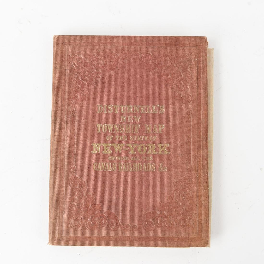 1858 SMITH-DISTURNELL'S NEW TOWNSHIP MAP OF NY