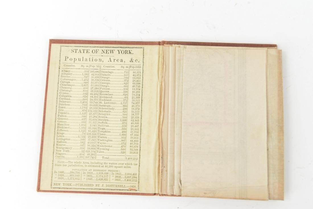 1858 SMITH-DISTURNELL'S NEW TOWNSHIP MAP OF NY - 2