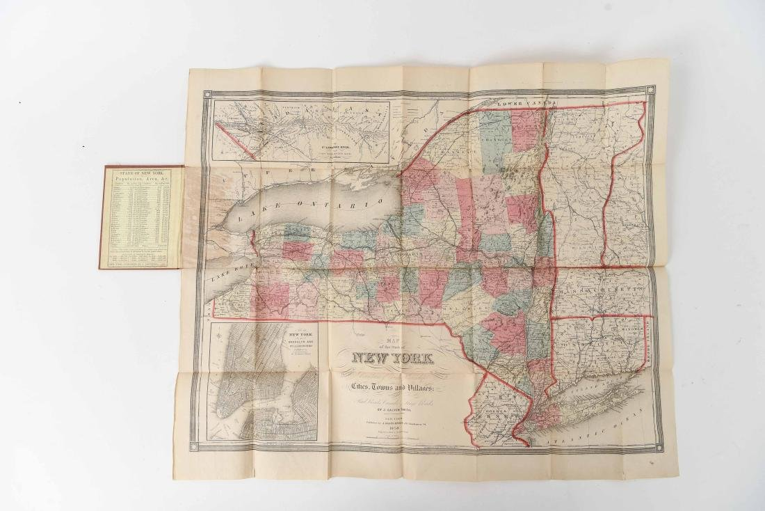 1858 SMITH-DISTURNELL'S NEW TOWNSHIP MAP OF NY - 3