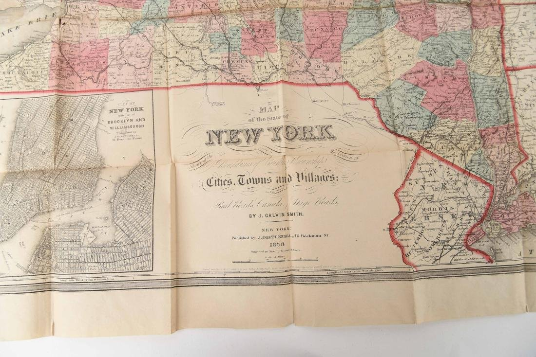 1858 SMITH-DISTURNELL'S NEW TOWNSHIP MAP OF NY - 4