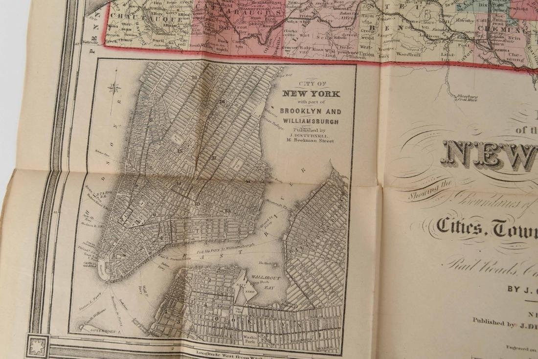 1858 SMITH-DISTURNELL'S NEW TOWNSHIP MAP OF NY - 5