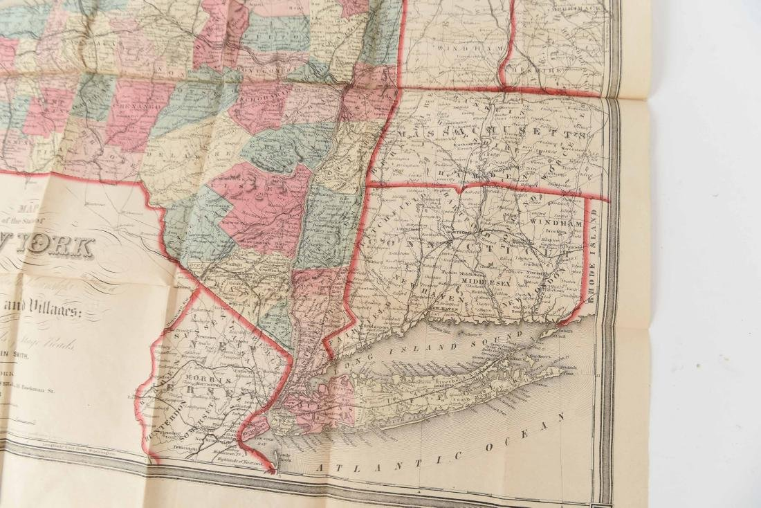1858 SMITH-DISTURNELL'S NEW TOWNSHIP MAP OF NY - 8