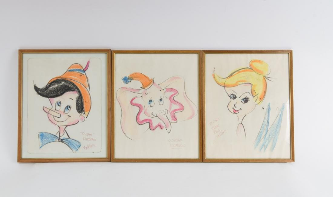 (3) TOM DESTASIO DISNEY DRAWINGS