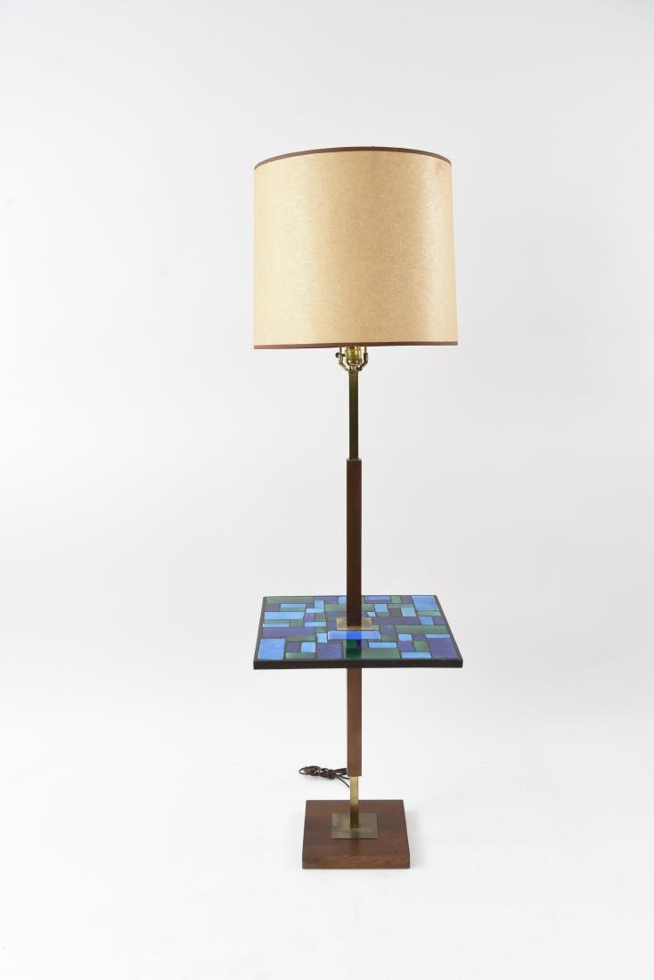 MID-CENTURY MOSAIC TABLE FLOOR LAMP