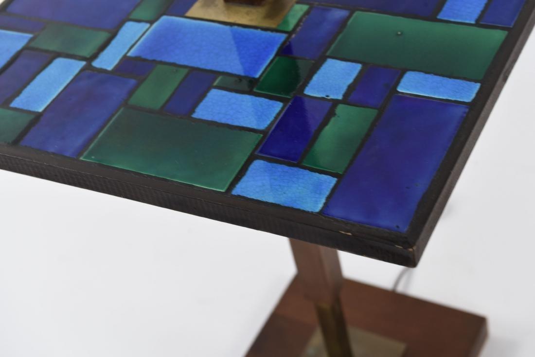 MID-CENTURY MOSAIC TABLE FLOOR LAMP - 9