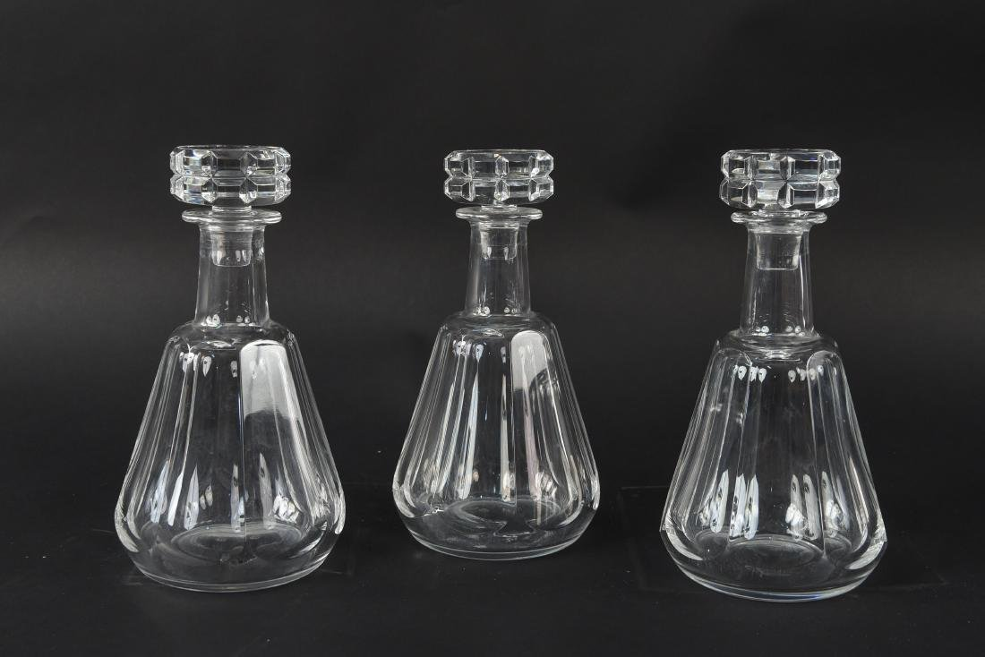 THREE BACCARAT CRYSTAL DECANTERS