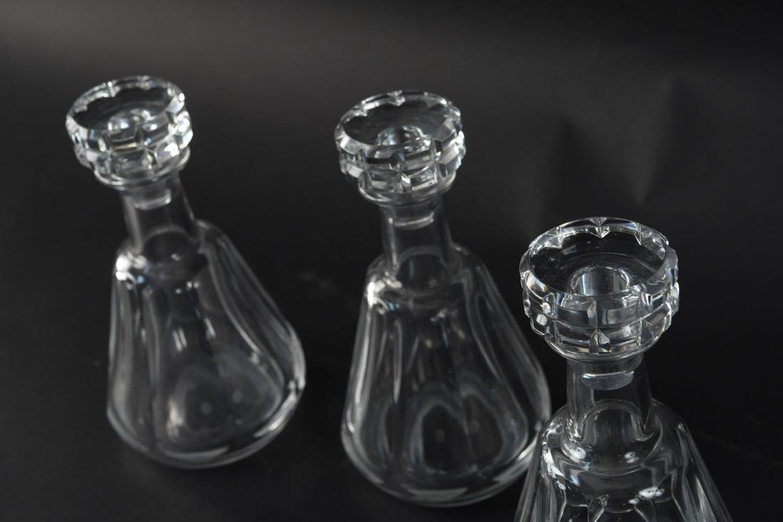 THREE BACCARAT CRYSTAL DECANTERS - 6